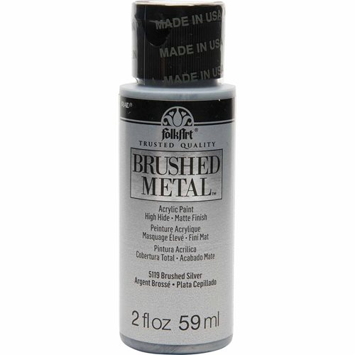 FolkArt ® Brushed Metal™ Acrylic Paint - Silver, 2 oz.
