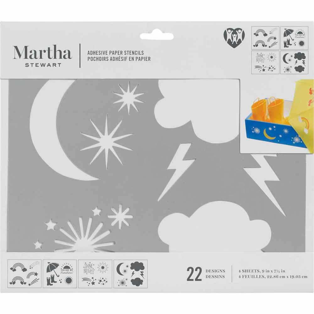 Martha Stewart® Adhesive Paper Stencils - Rainbows and Clouds