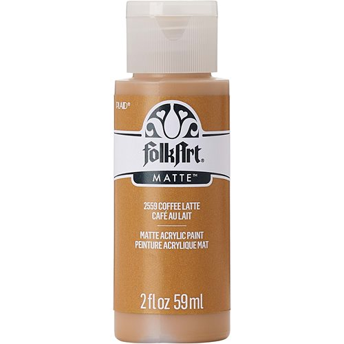 FolkArt ® Acrylic Colors - Coffee Latte, 2 oz.