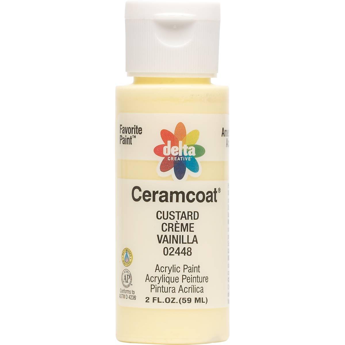 Delta Ceramcoat ® Acrylic Paint - Custard, 2 oz. - 024480202W