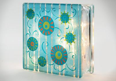 Summer Sun Spot Glass Block