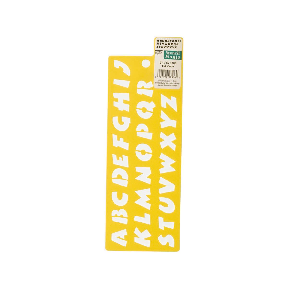 Delta Stencil Mania™ - Alphabet - Fat Caps