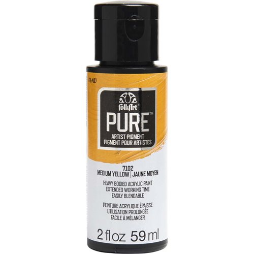 FolkArt ® Pure™ Artist Pigment - Medium Yellow, 2 oz. - 7102