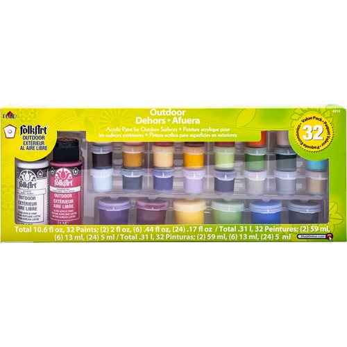 FolkArt ® Outdoor™ Acrylic Colors Accessories - Sampler Value Pack