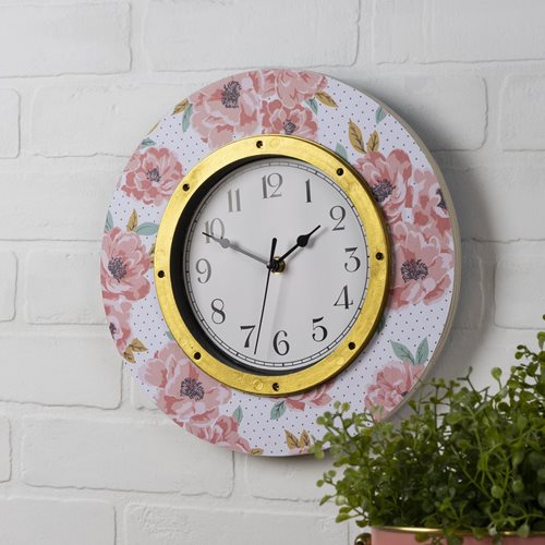 Upcycled Floral Clock