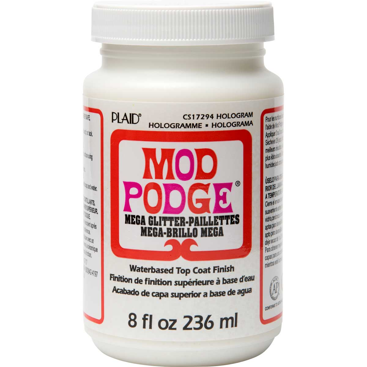 Mod Podge ® Mega Glitter - Hologram, 8 oz.