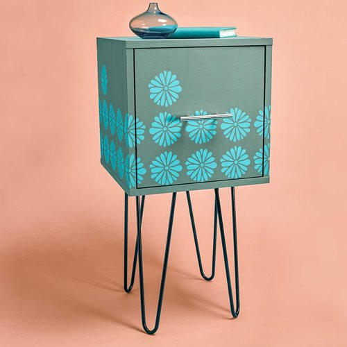 Mod Floral Side Table
