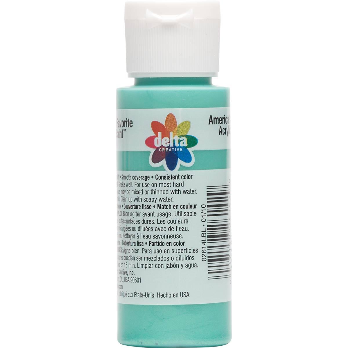 Delta Ceramcoat ® Acrylic Paint - Aqua Cool Pearl, 2 oz.