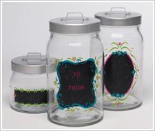 Chalkboard Label Gift Jars