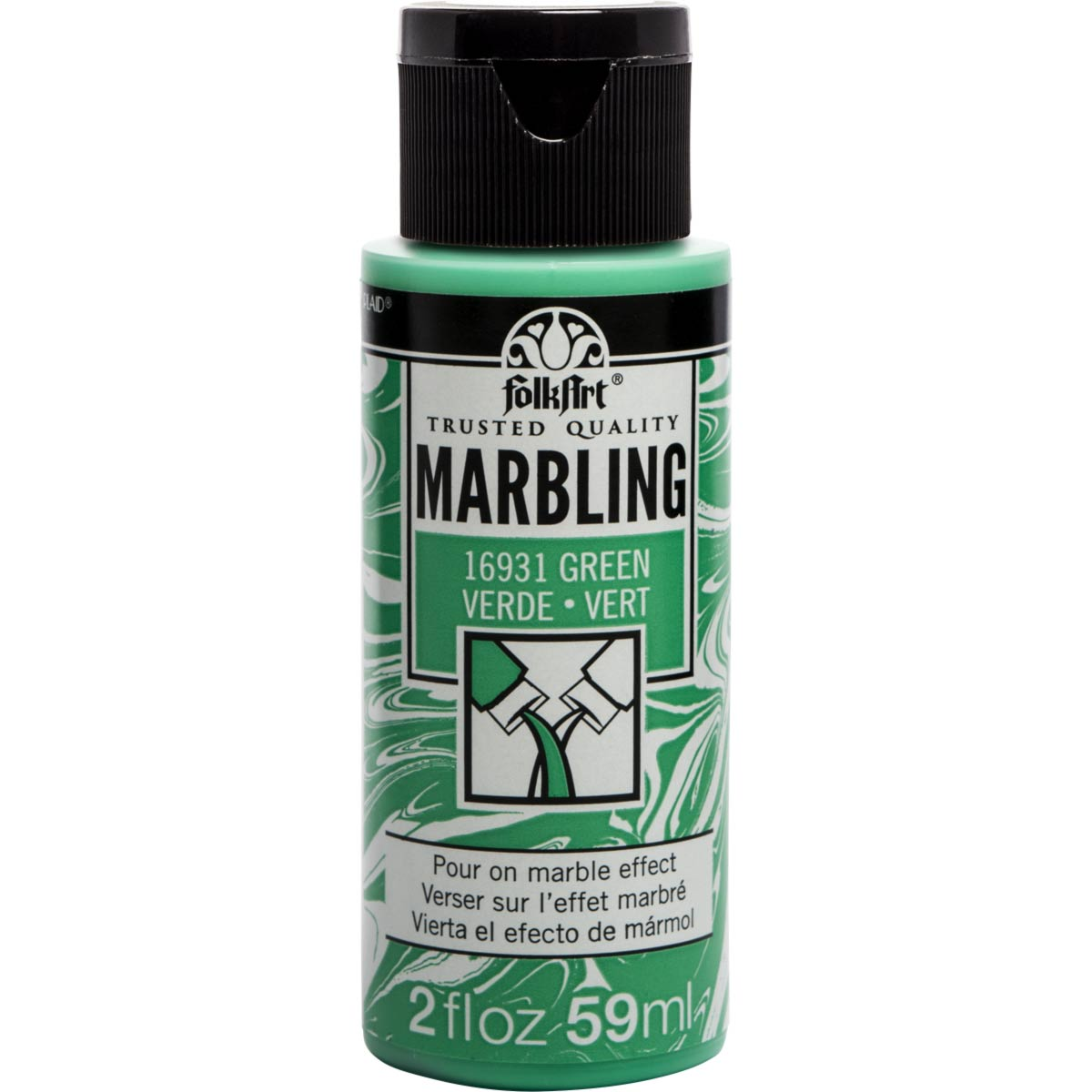 FolkArt ® Marbling Paint - Green, 2 oz. - 16931