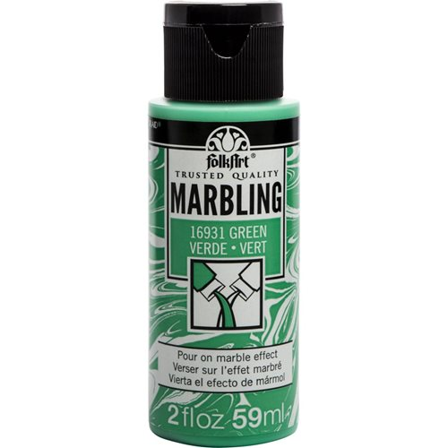 FolkArt ® Marbling Paint - Green, 2 oz.
