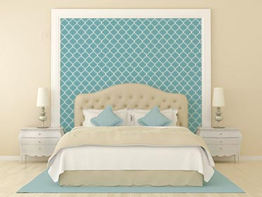 Trellis Stenciled Wall
