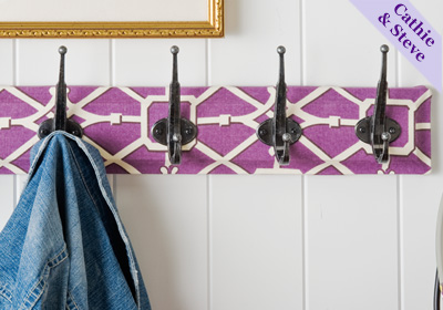Fabric Covered Accessory Hooks