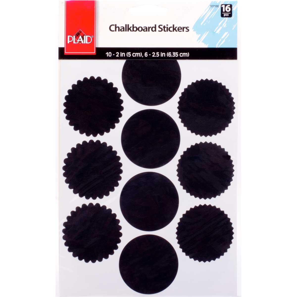 Plaid ® Chalkboard Stickers, 16 pcs.
