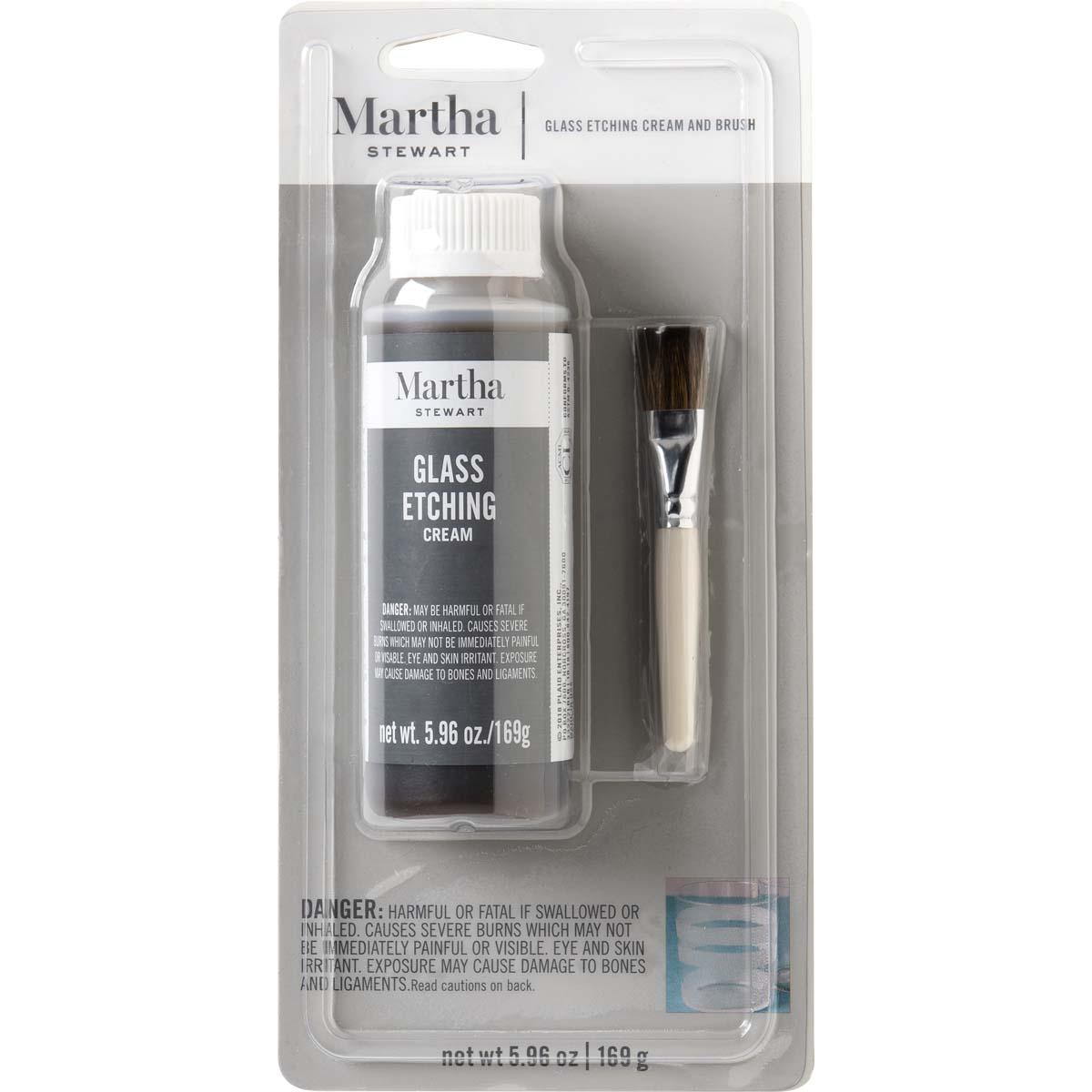 Martha Stewart® Glass Etch Cream & Brush