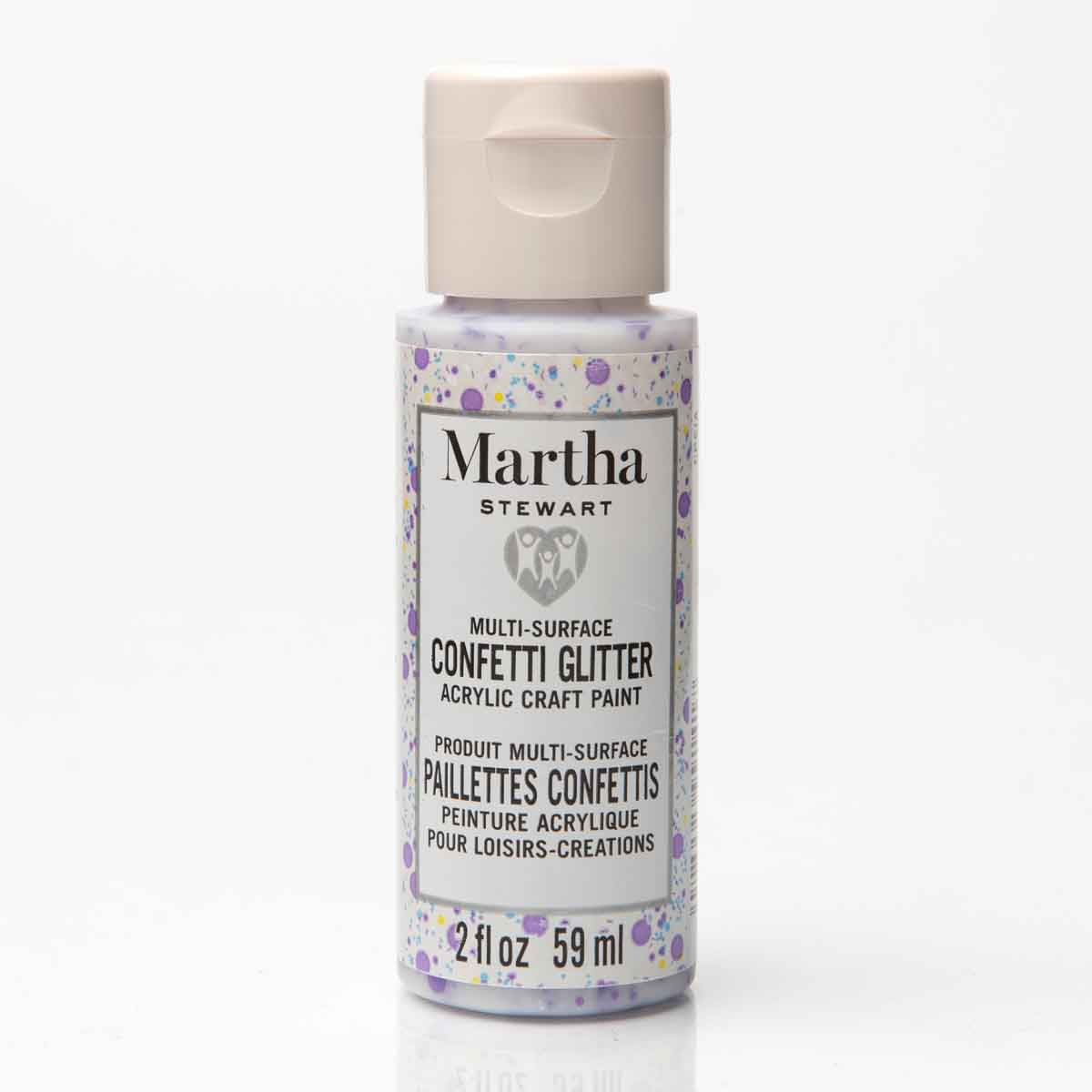 Martha Stewart ® Family Friendly Multi-Surface Glitter Acrylic Craft Paint 6-Color Best of Paint Set