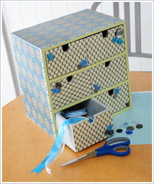 Polka Dot Six Drawer Organizer