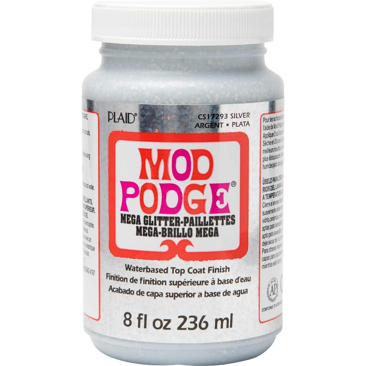 Mod Podge ® Mega Glitter - Silver, 8 oz.