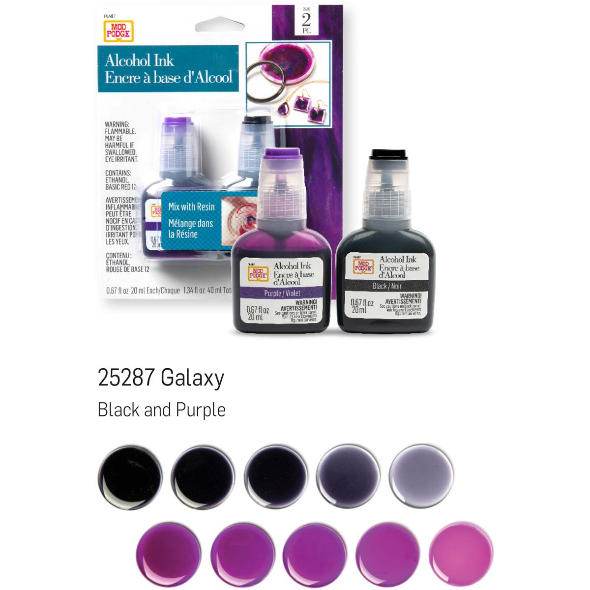 Mod Podge ® Alcohol Ink Set - Galaxy, 2 pc. - 25287