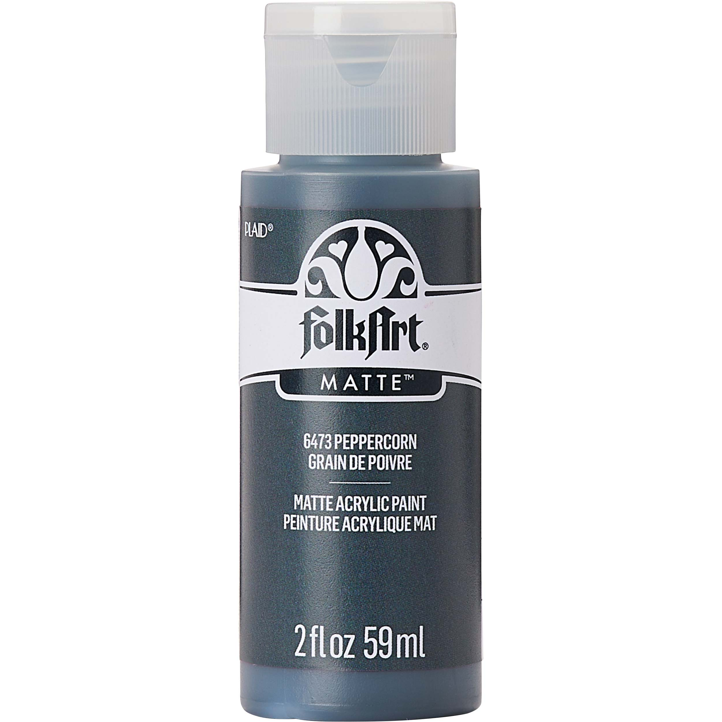 FolkArt ® Acrylic Colors - Peppercorn, 2 oz. - 6473