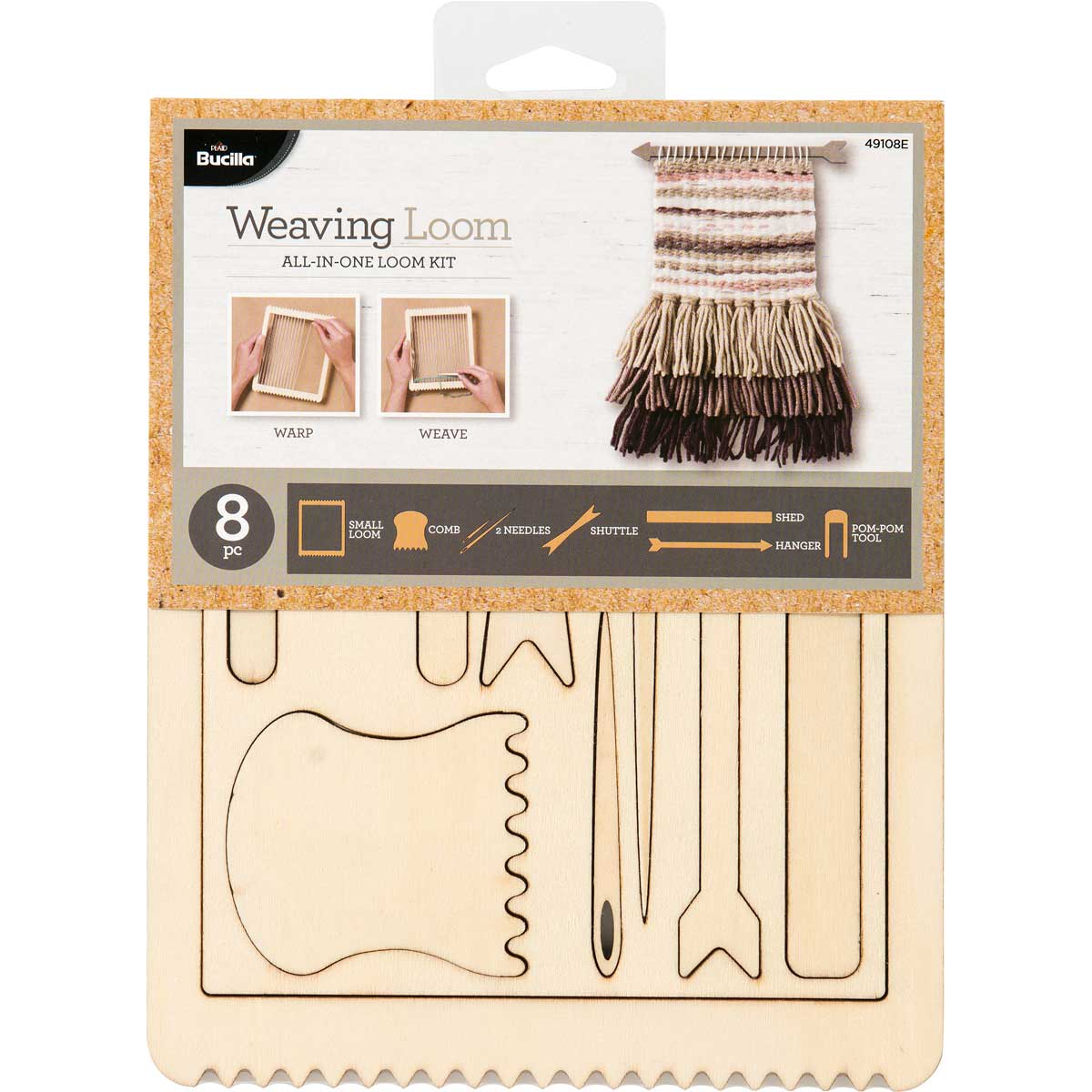 Bucilla ® Weaving Loom All-In-One Kit - Rectangle, 8 piece - 49108