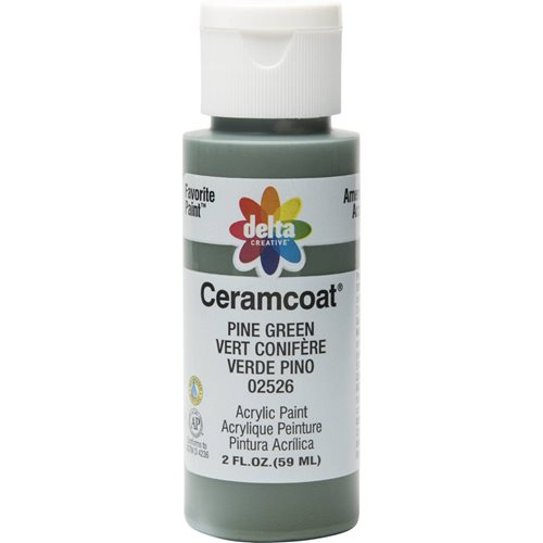 Delta Ceramcoat ® Acrylic Paint - Pine Green, 2 oz.