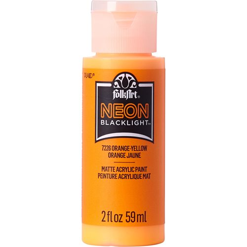 FolkArt ® Neon Blacklight™ Colors -  Orange-Yellow, 2 oz. - 7226