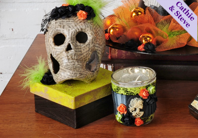 Frida Inspired Halloween Gift Box and Gothic Votive