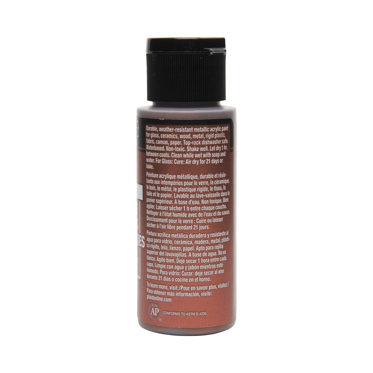 FolkArt ® Multi-Surface Metallic Acrylic Paints - Antique Copper, 2 oz. - 6306