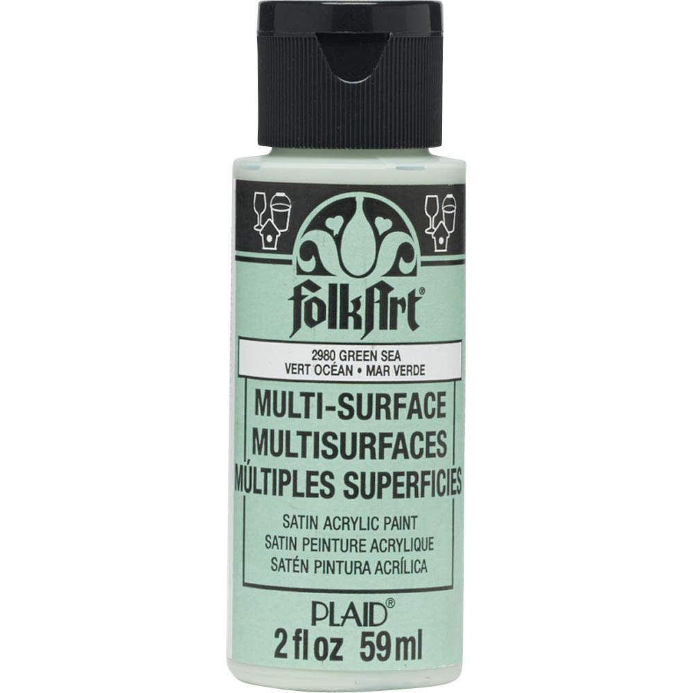 FolkArt ® Multi-Surface Satin Acrylic Paints - Green Sea, 2 oz. - 2980