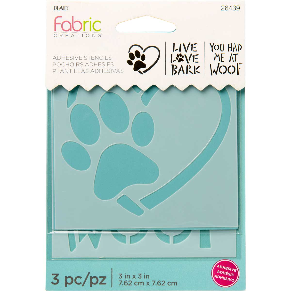 Fabric Creations™ Adhesive Stencils - Mini - Dog, 3