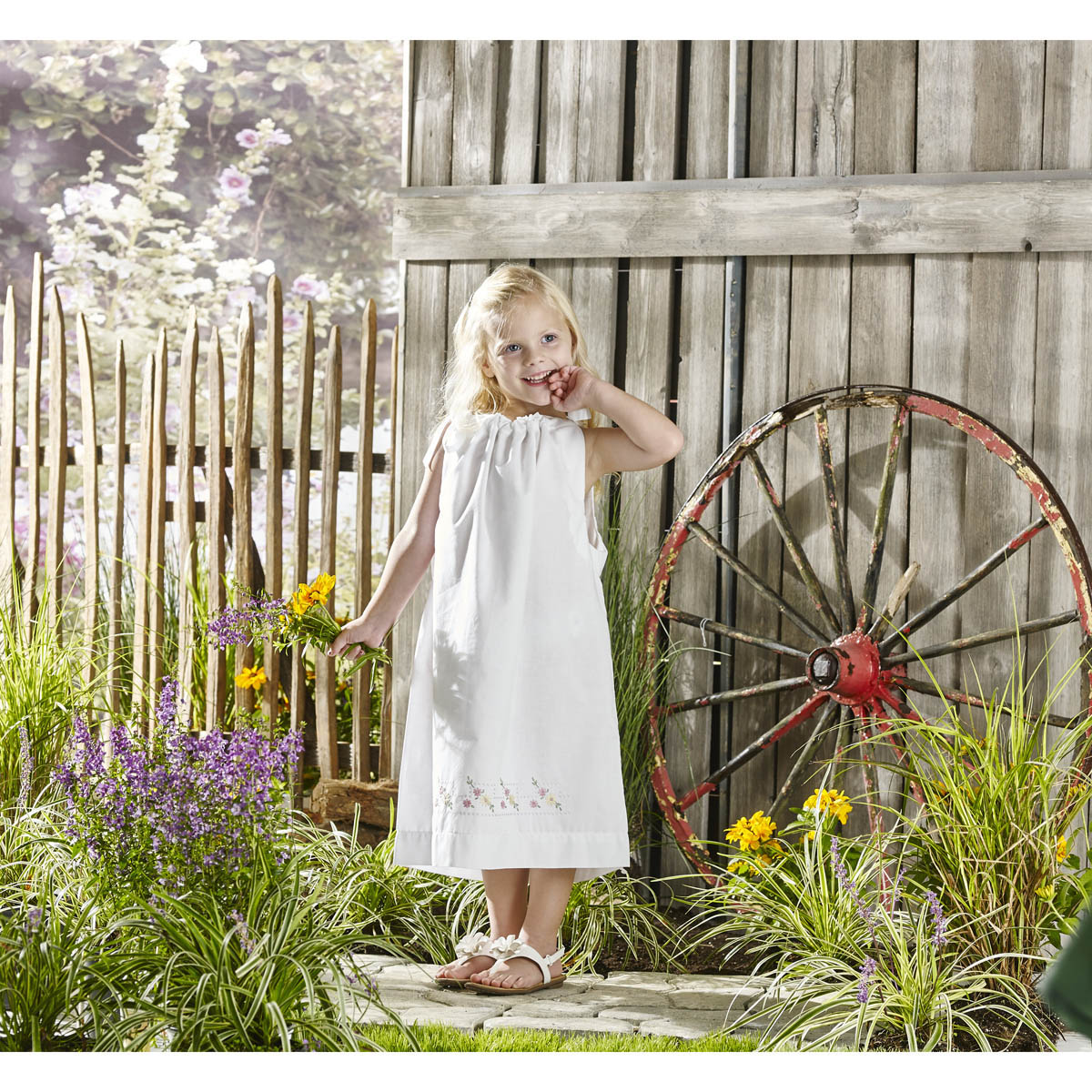Bucilla ® Stamped Cross Stitch & Embroidery - Pillowcase Dress - Pretty Posies