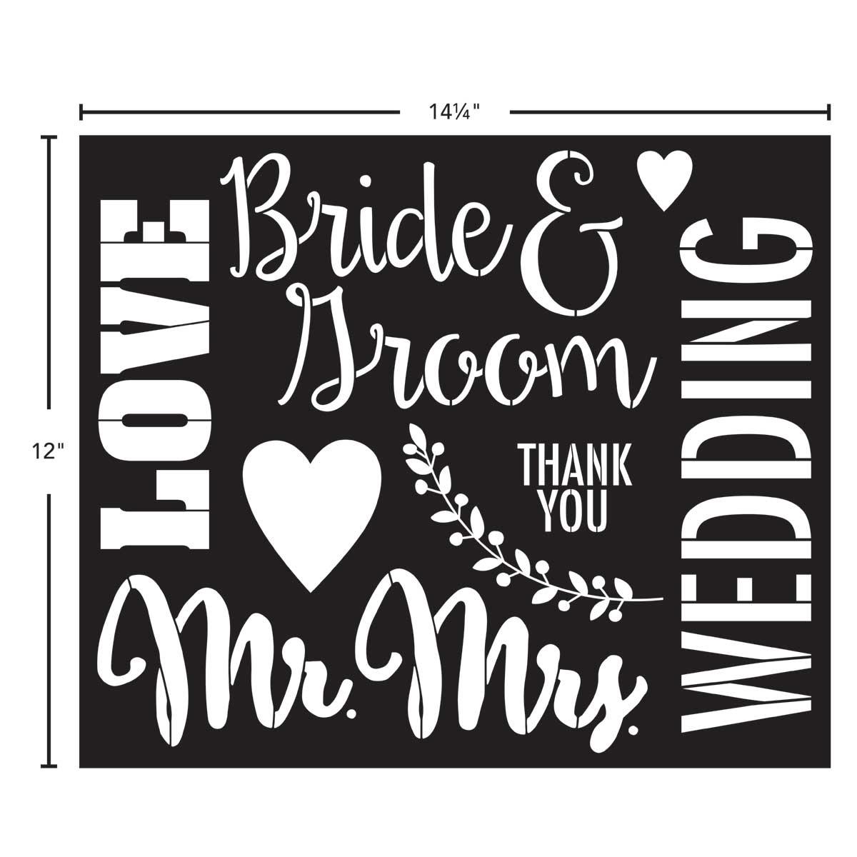 FolkArt ® Painting Stencils - Sign Making - Wedding - 61158