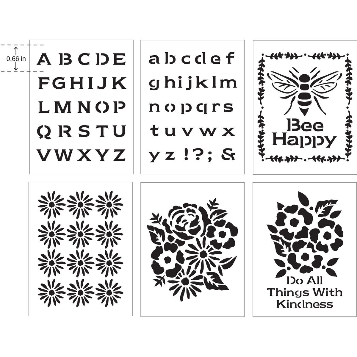 FolkArt ® Craft Stencils - Value Packs - Floral Tradition