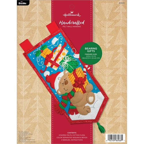 Bucilla ® Seasonal - Felt - Home Decor - Hallmark -  Bearing Gifts Wall Hanging