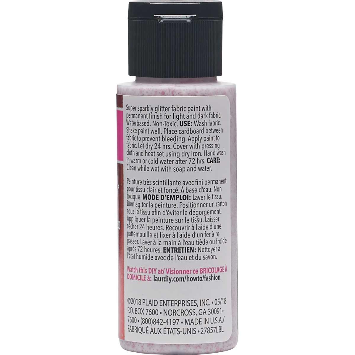 LaurDIY ® Galaxy Glitter Fabric Paint - Solar Flare, 2 oz.