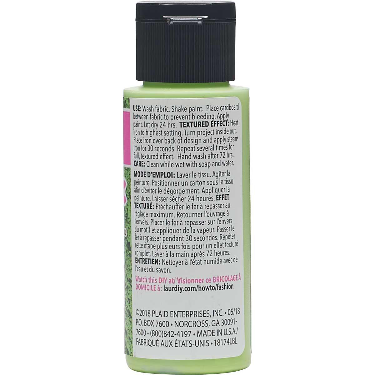 LaurDIY ® Texturific™ Fabric Paint - Palms, 2 oz.