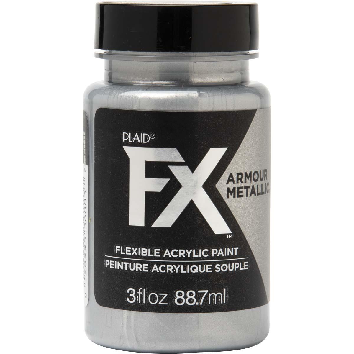 PlaidFX Armour Metal Flexible Acrylic Paint - Chainmail, 3 oz. - 36883