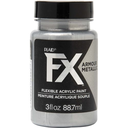 PlaidFX Armour Metal Flexible Acrylic Paint - Chainmail, 3 oz. - 36883