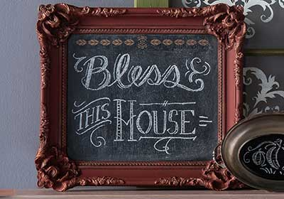 Chalkboard with Ornate Frame