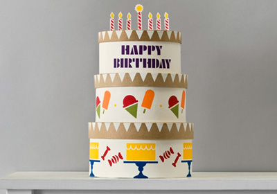 Handmade Charlotte Stacked Birthday Cake Boxes