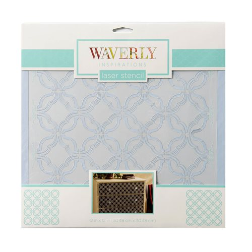 "Waverly ® Inspirations Laser Stencils - Décor - Mini Geo, 12"" x 12"""