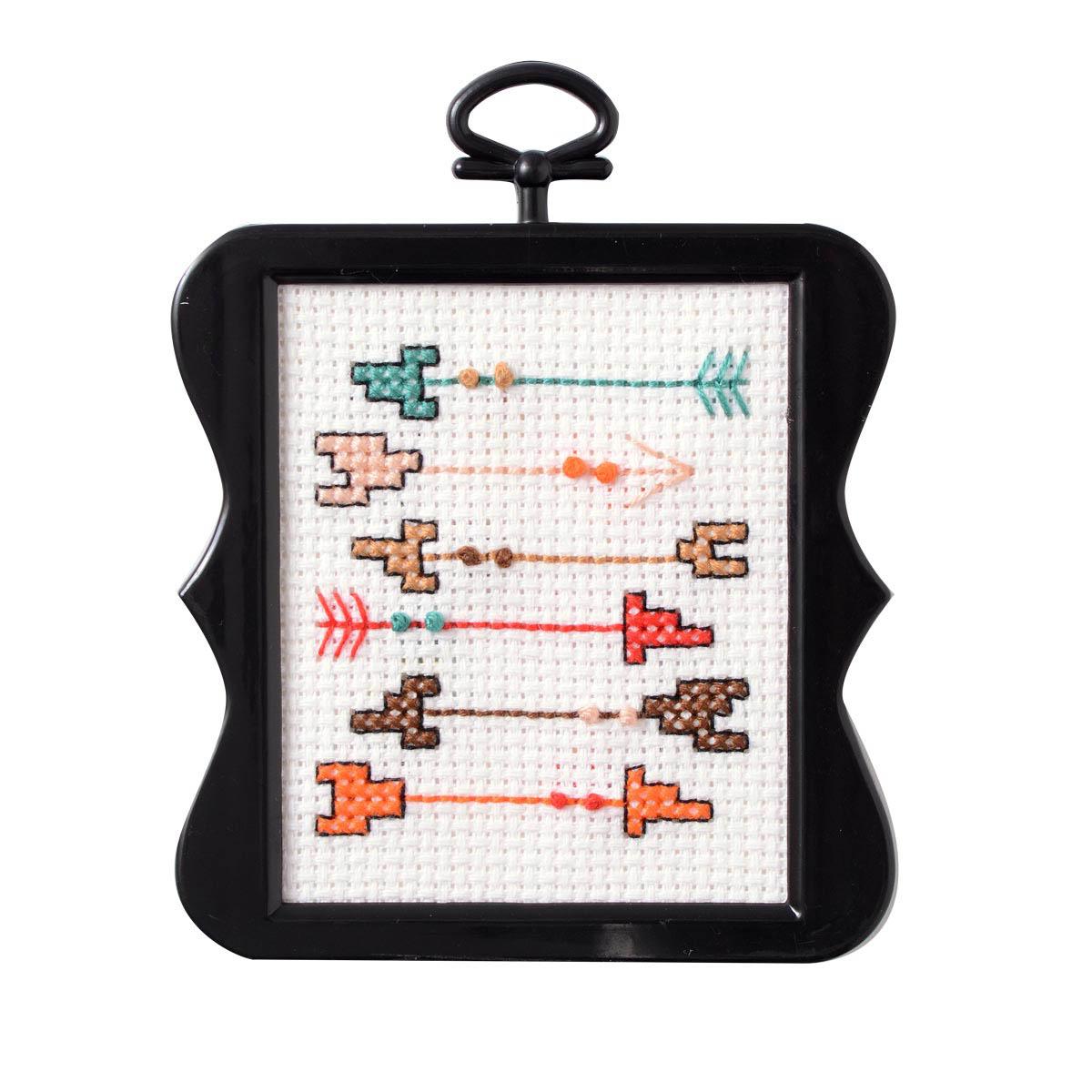 Bucilla ® Counted Cross Stitch - Beginner Stitchery - Mini - Arrows