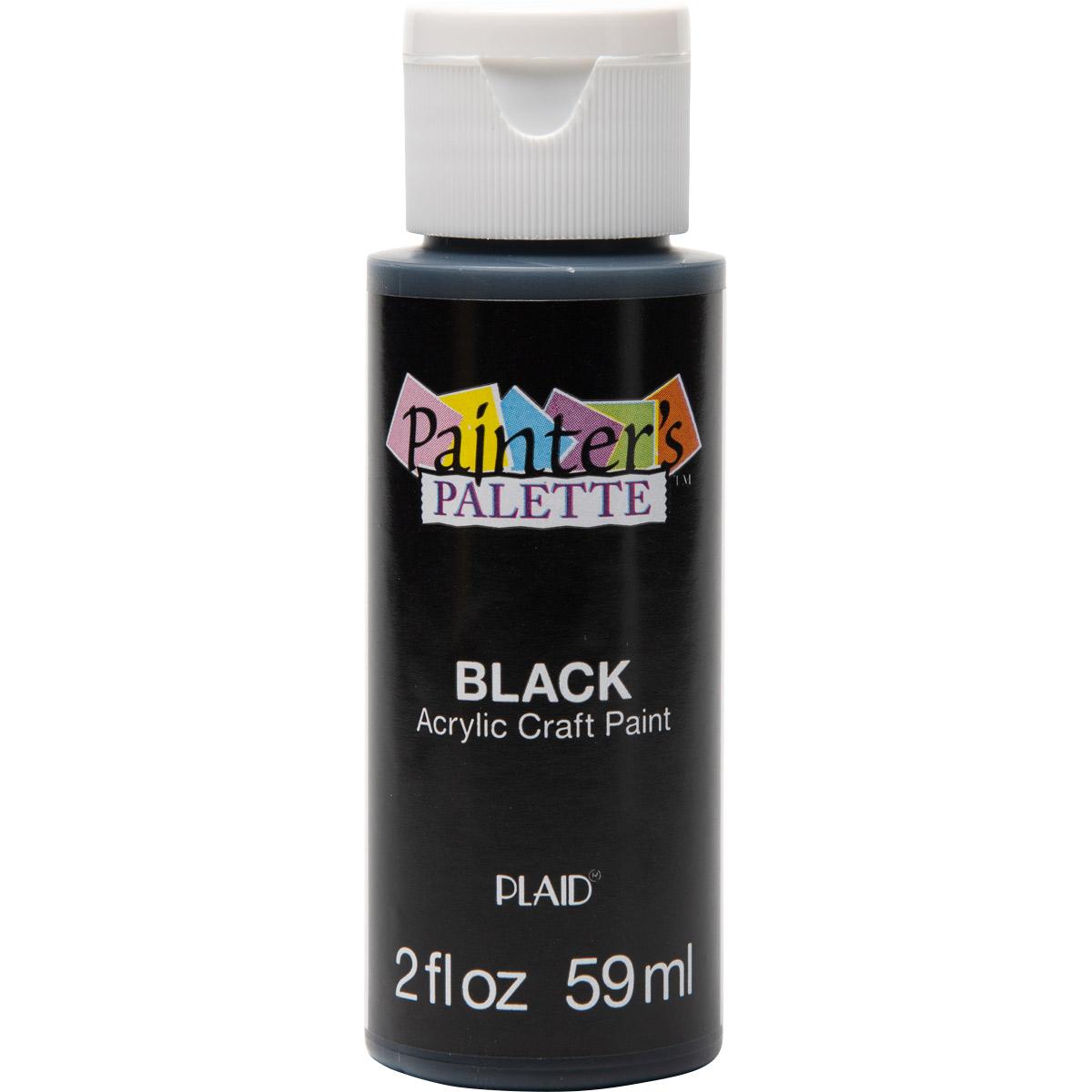 Plaid ® Painter's Palette™ Acrylic Paint - Black, 2 oz. - 23778