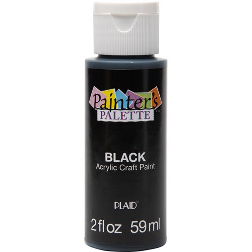 Plaid ® Painter's Palette™ Acrylic Paint - Black, 2 oz.