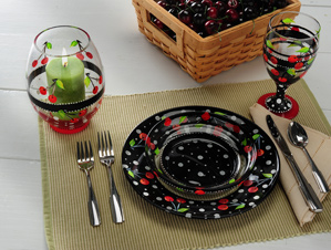 Cherries for Everyone Glassware