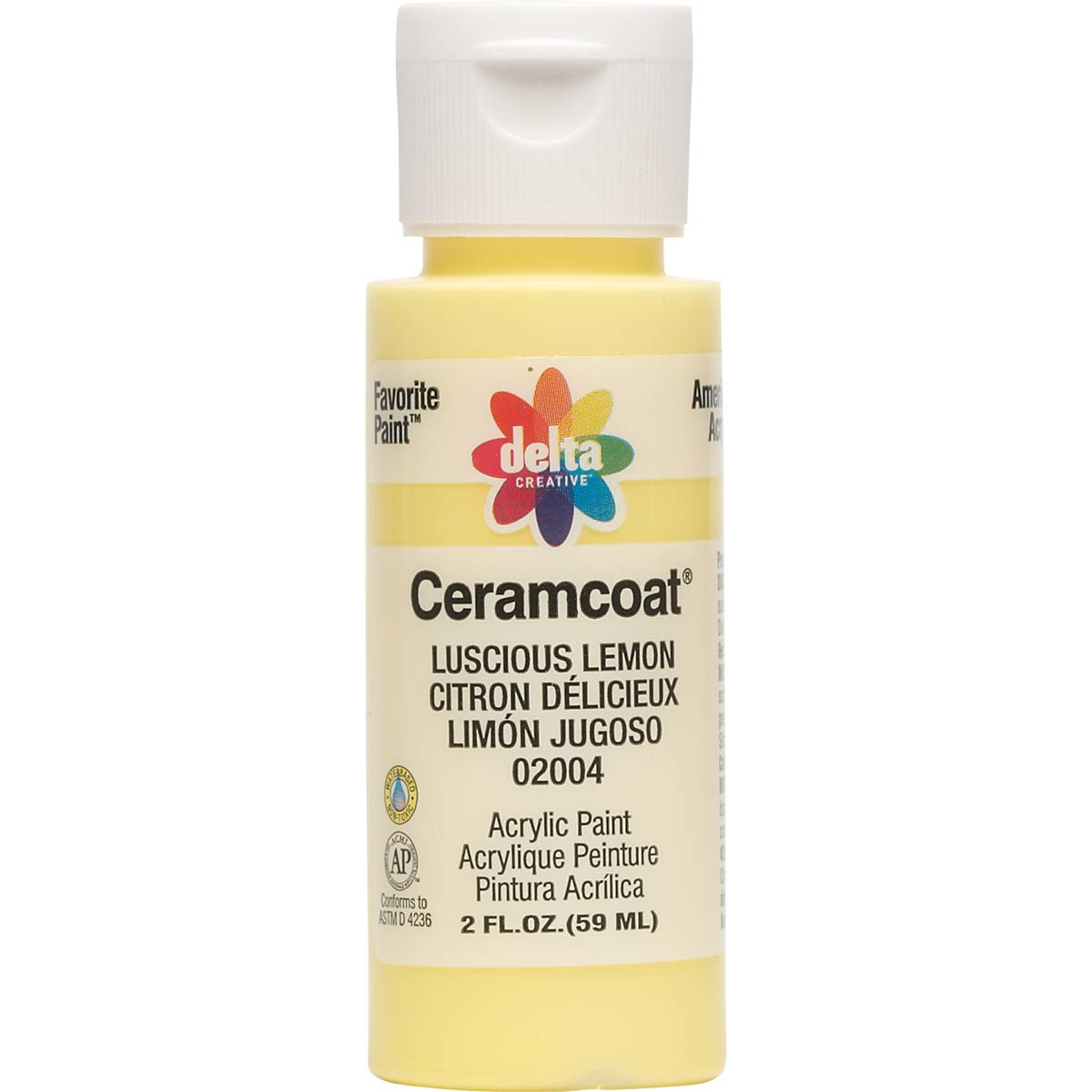 Delta Ceramcoat ® Acrylic Paint - Luscious Lemon, 2 oz. - 020040202W