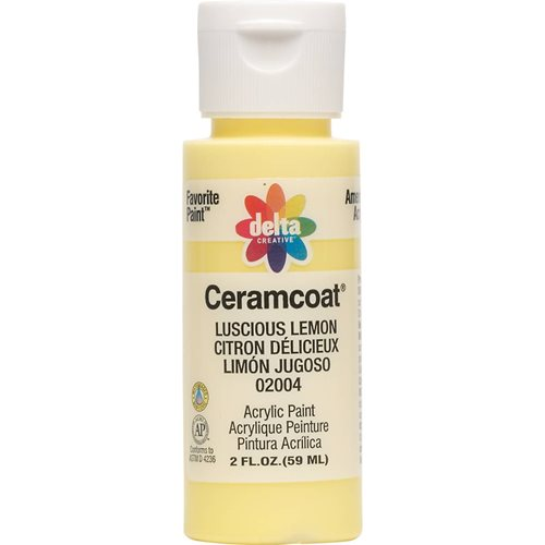 Delta Ceramcoat ® Acrylic Paint - Luscious Lemon, 2 oz.