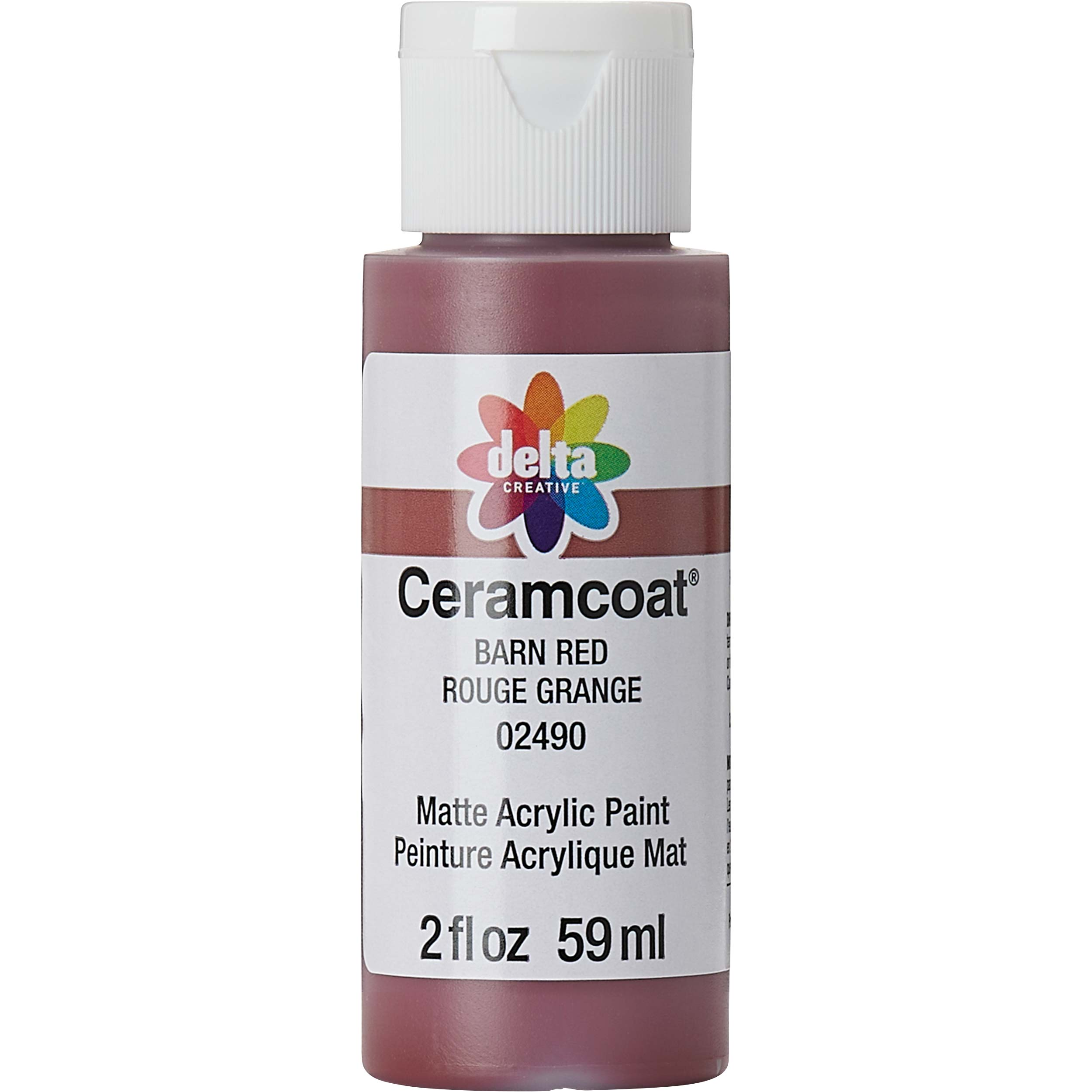 Delta Ceramcoat ® Acrylic Paint - Barn Red, 2 oz.