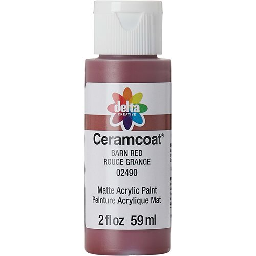 Delta Ceramcoat ® Acrylic Paint - Barn Red, 2 oz. - 024900202W